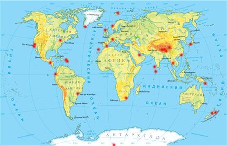 Малая карта самых опасных аэропортов мира