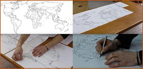 Как сделать пробковую карту мира