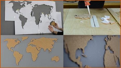 Фото и видео как сделать пробковую карту мира (фото 3)