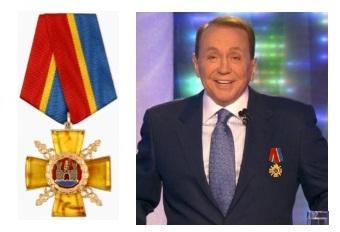 Александр Масляков с орденом на груди За заслуги перед Калининградской областью